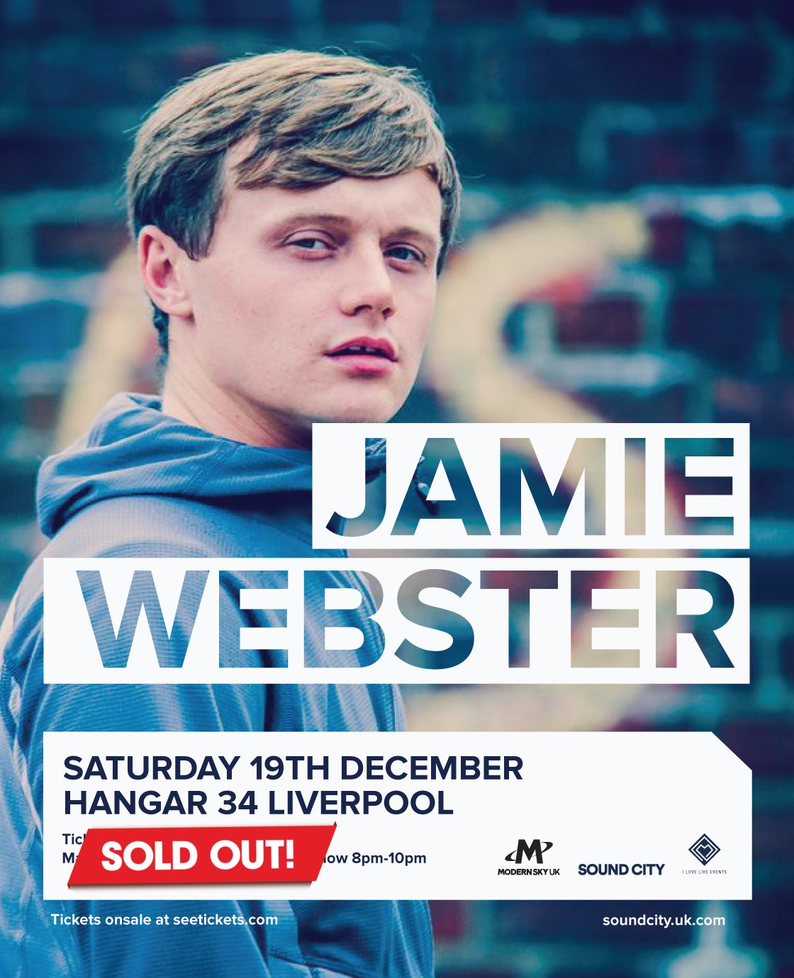 Jamie Webster's Socially Distanced Shows SOLD OUT in seconds
