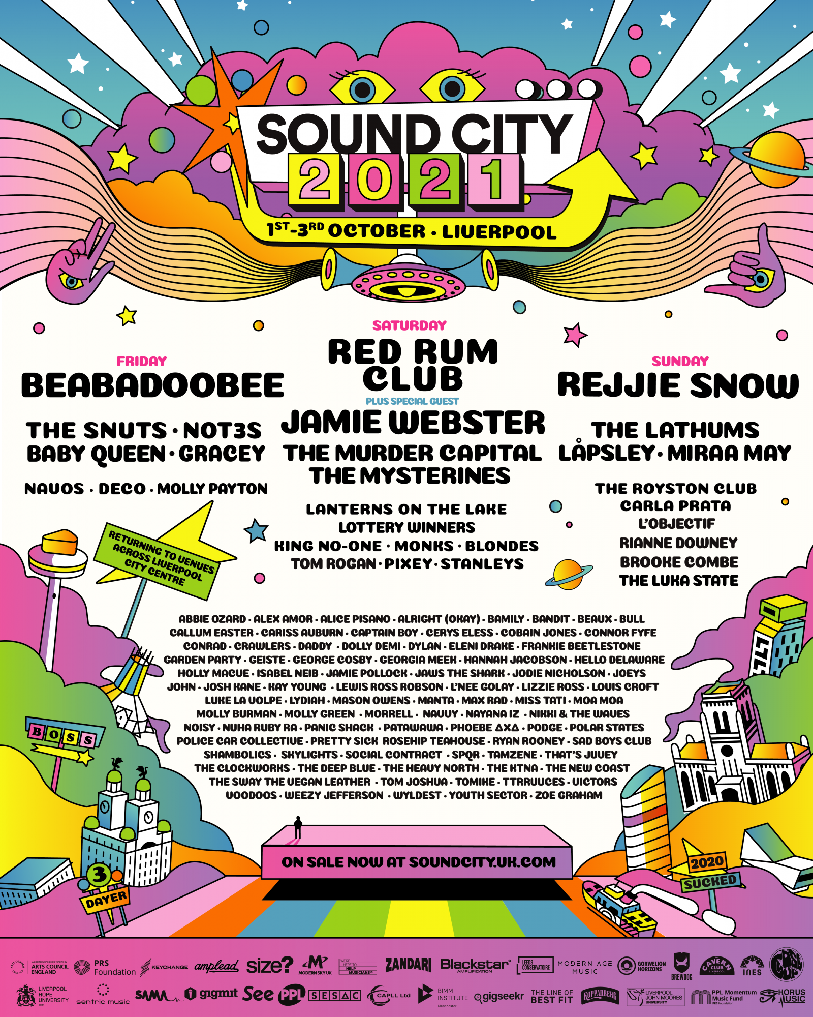 Liverpool Sound City will return to city centre in 2021, Beabadoobee announced among more than 50 additions to line-up