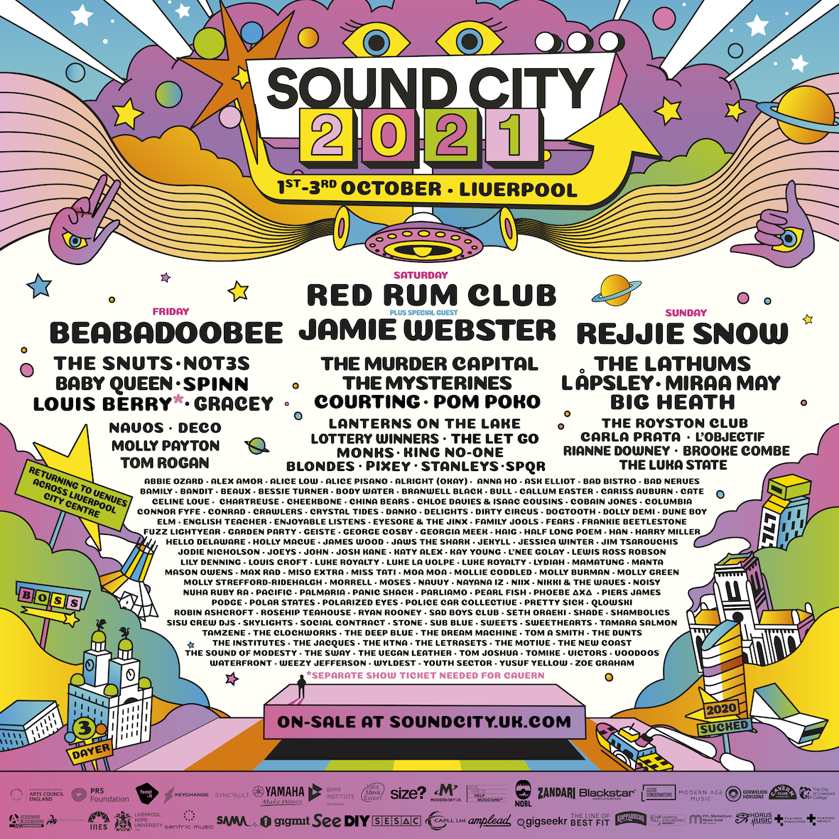 Final 20 artists revealed for Sound City 2021!